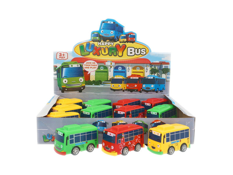 Friction bus toy colorful bus plastic car toy