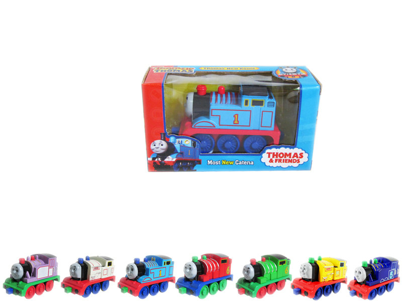 Pull back thomas car metal car toy with IC thomas car with light and music