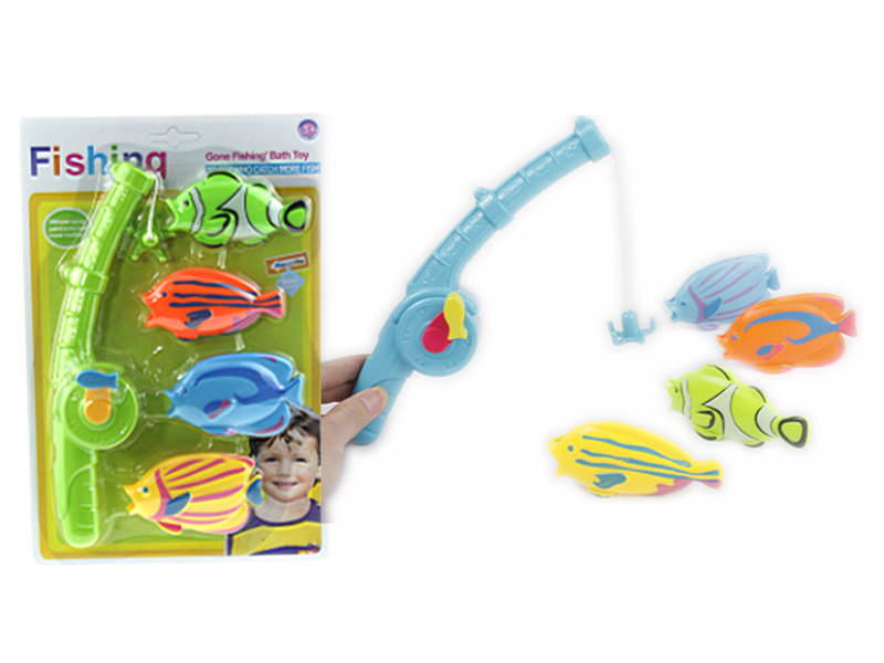 Fishing toys funny toy fish toy set with fish