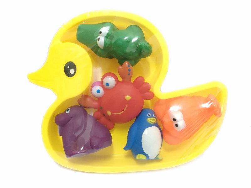 Cartoon bath toy funny toy 5pcs sea animal bath toy