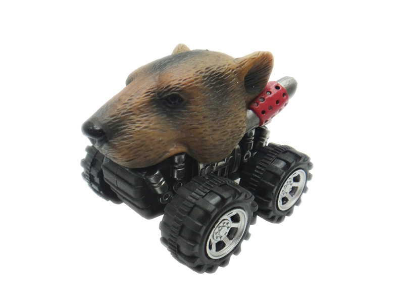 Pull back animal car grizzly bear car toys pull back toy vehicles