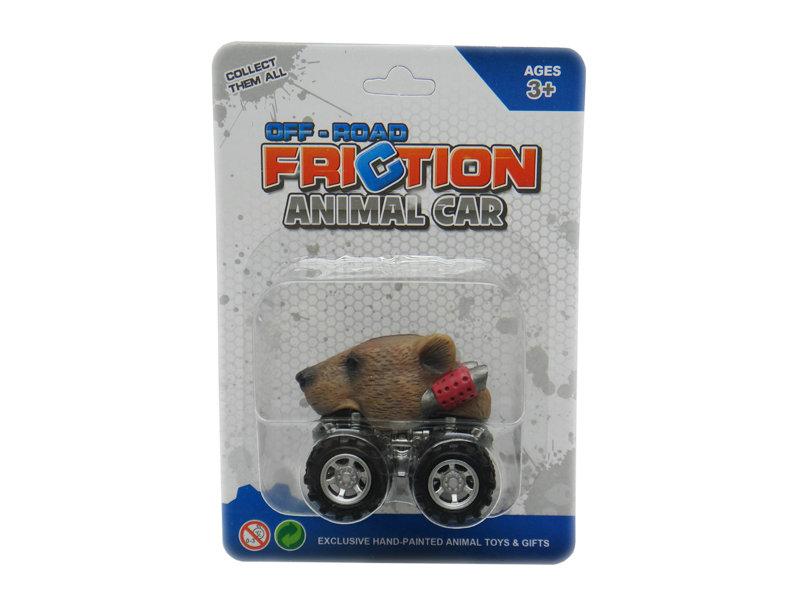Animal car pull back car grizzly bear toy car