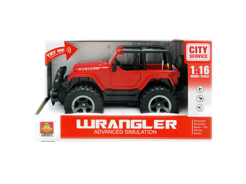 Friction jeep toy jeep with light and music toy car