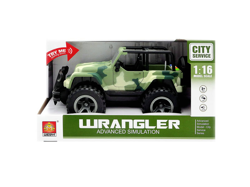Friction jeep car jeep with light and music toy car