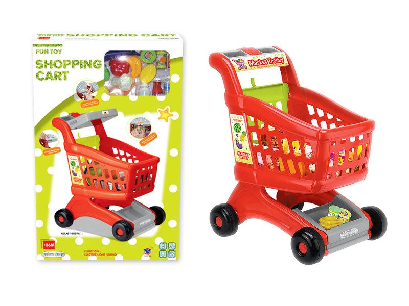 Shopping cart toy supermarket toy pretending toy set