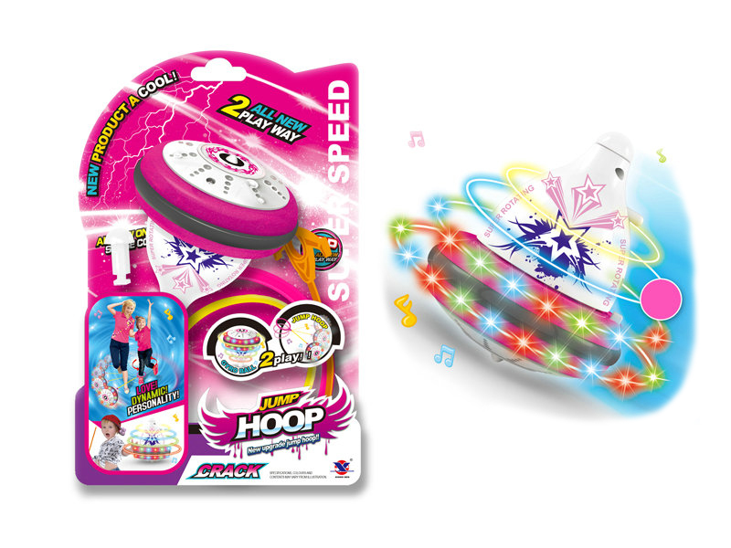 Game toy spining top toy top with light and music