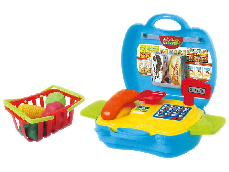 Supermarket set pretending toy game toy