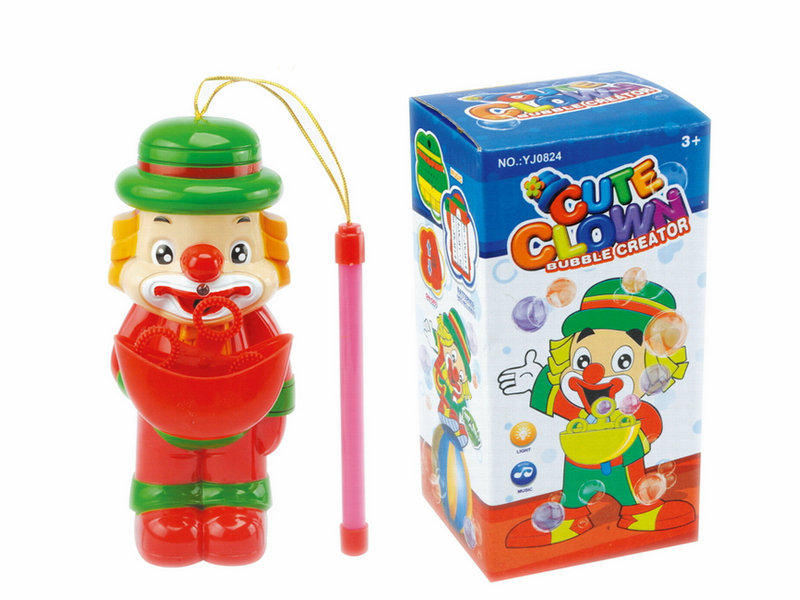 B/O bubble toy clown toy bubble lantern with light and music