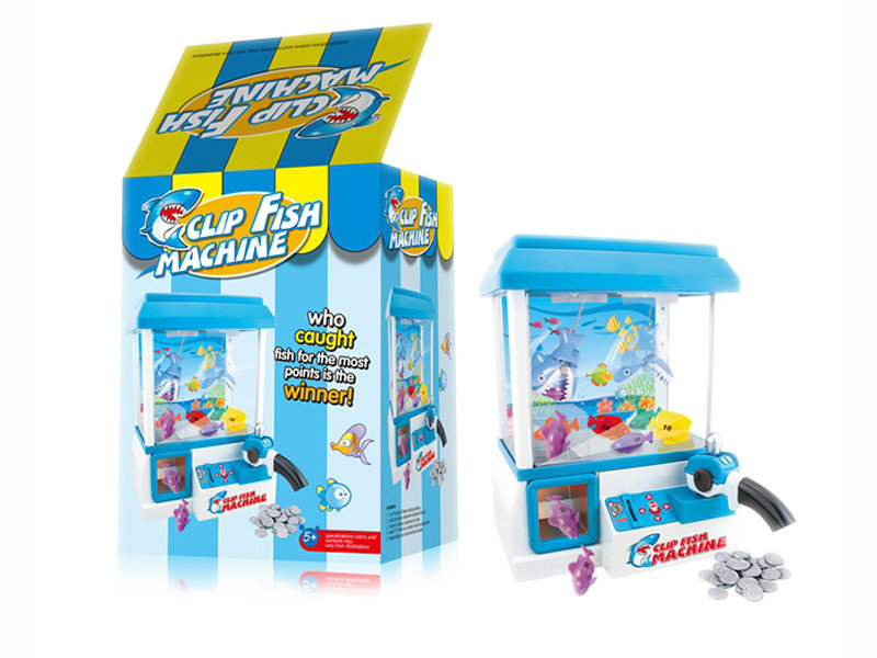 Clip fish machine funny game toy machine for kids