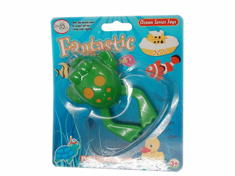 Pull line toy pull line swimming toy plastic frog toy
