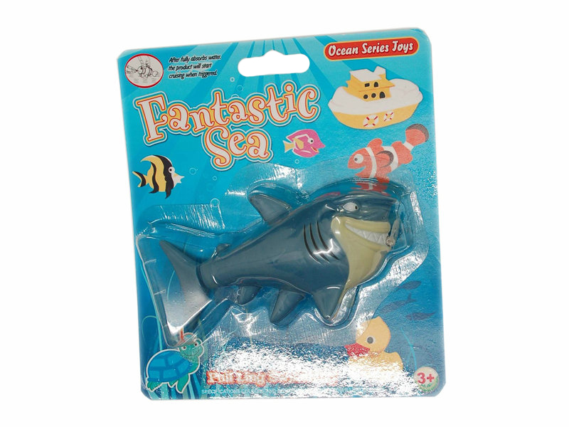 Pull line toy pull line swimming shark plastic shark toy