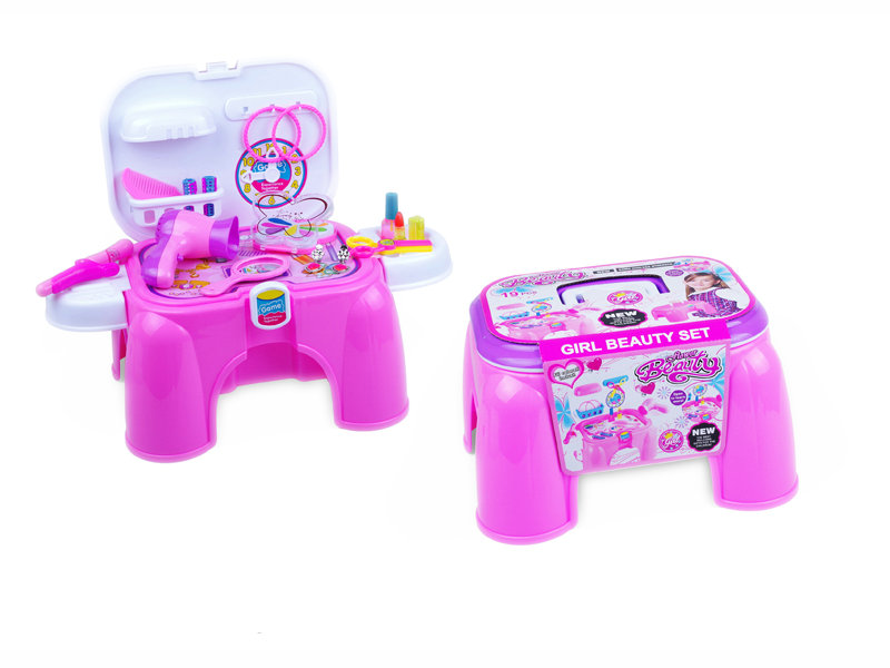 Dressing chair storage beauty toy girl beauty set