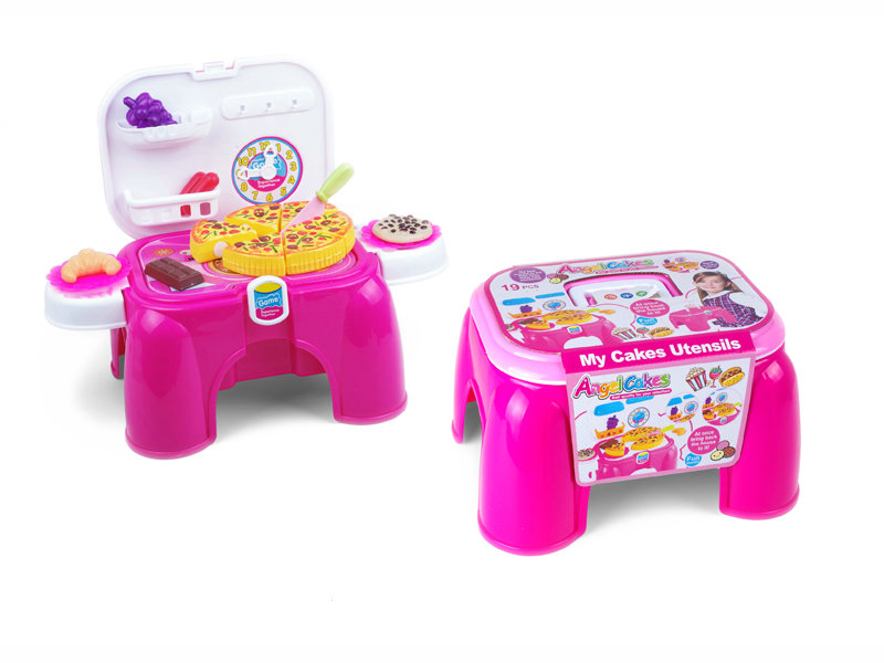 Pizza chair storage kitchen playset toy household toy for kid