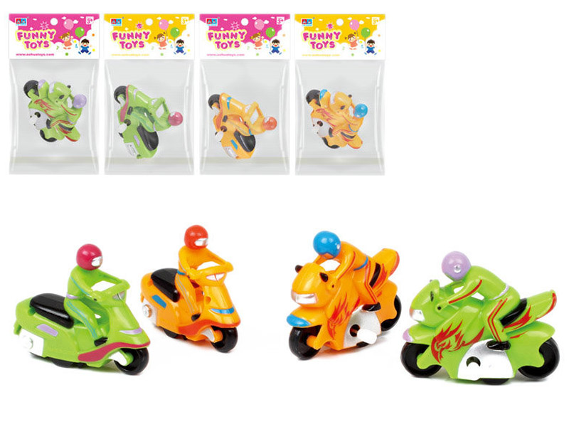Plastic toy wind up toy motorcycle toy