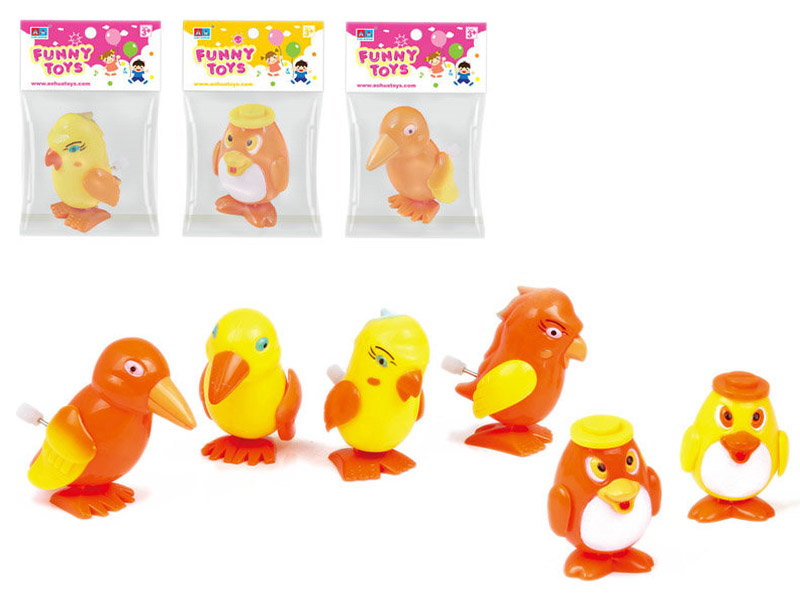 Wind up toy plastic bird animal toy for kids
