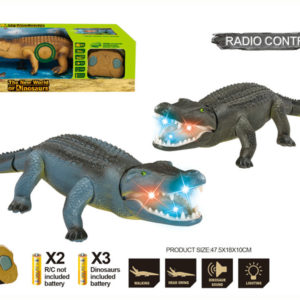 R/C crocodile toy crocodile with light and sound animal toy