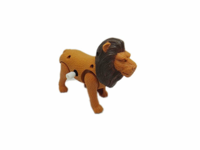 Wind up toy plastic lion animal toy for kids