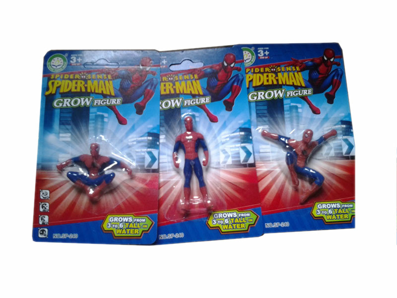 Growing toy spiderman toy funny toy