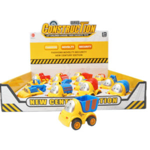 Cartoon vehicle pull back toy engineering car