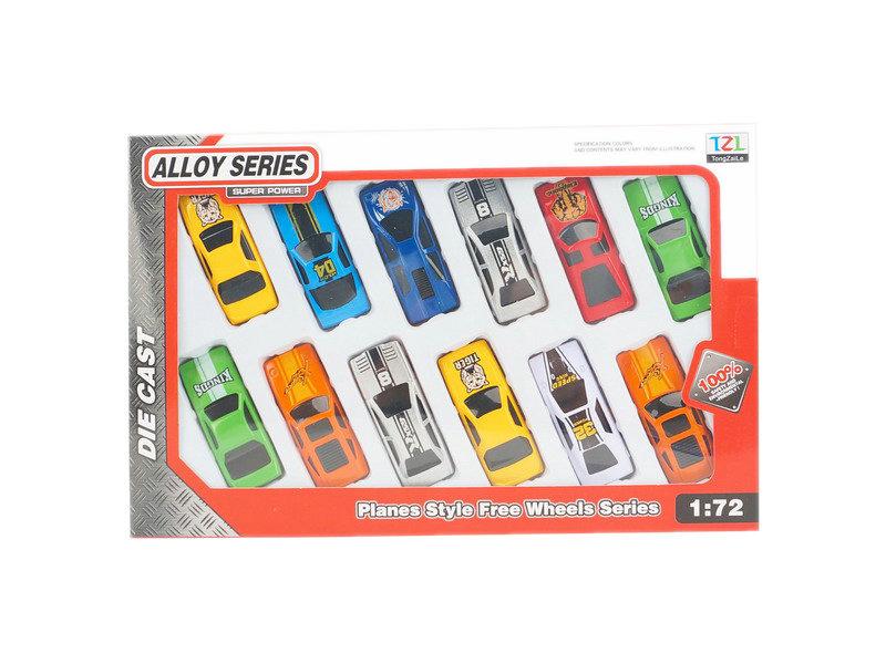 Car set toy metal toy free wheel toy