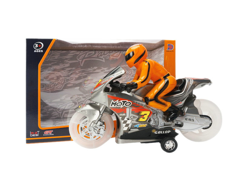 Musical motorcycle friction power toy cute toy
