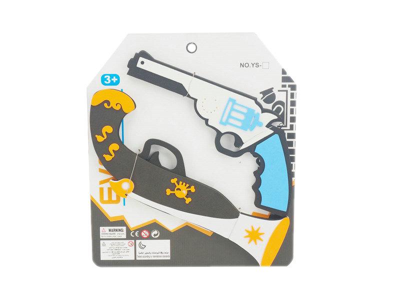 EVA gun toy pirates set cute toy