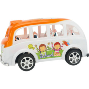 Cartoon bus friction power toy vehicle toy