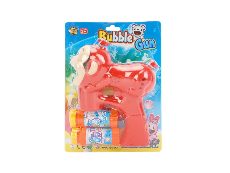 Red monkey gun bubble toy animal toy with music