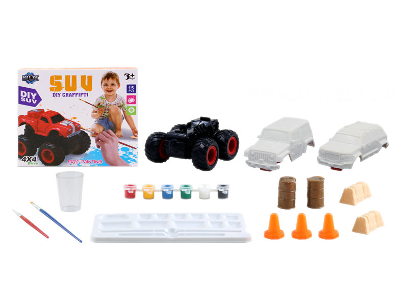 Friction car toy educational toy DIY toy