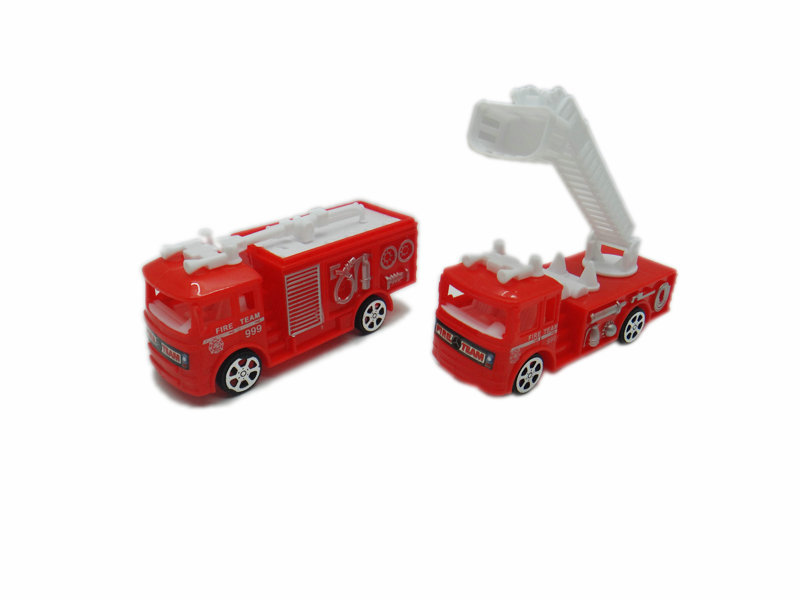 Fire engine pull back car vehicle toy