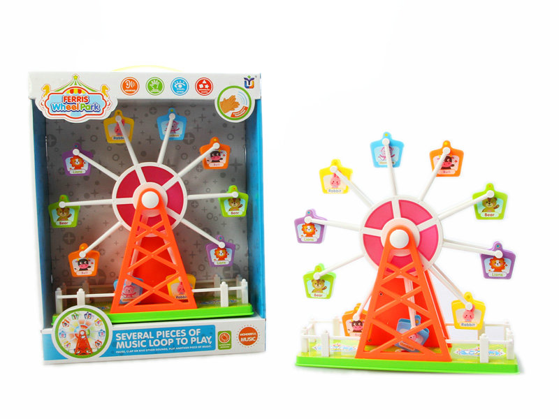 Ferris wheel toy battery option toy sound control toy