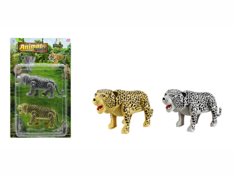 Leopard toy battery option toy animal toy
