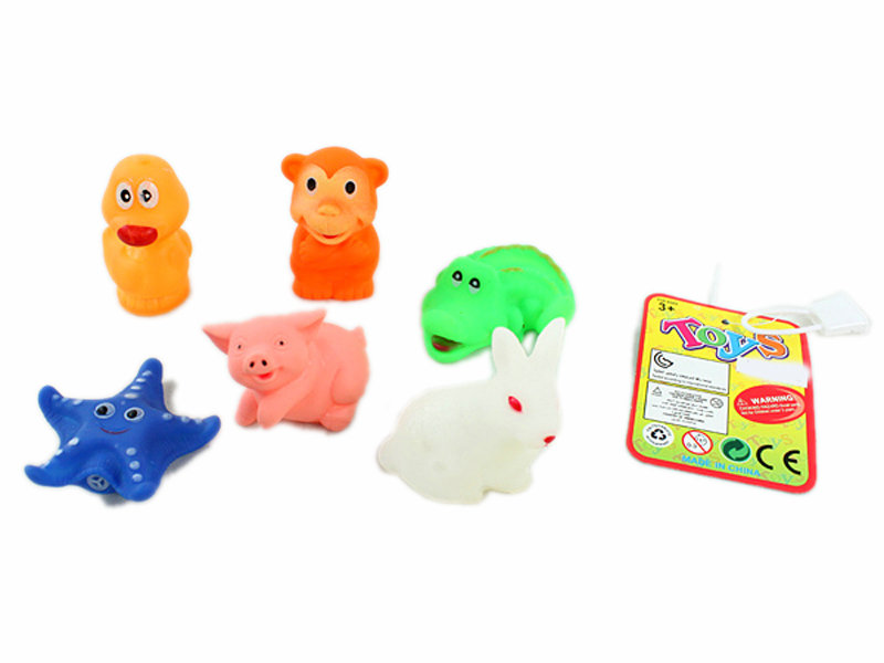 Vinyl toys animal toy 6pcs cartoon animal