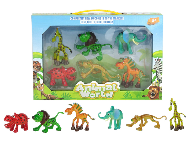 Cartoon animal toy funny toy animal toy set