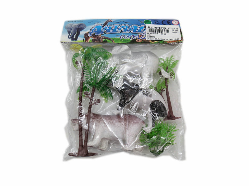 Wild animal toy set animal toy with tree Toy animal