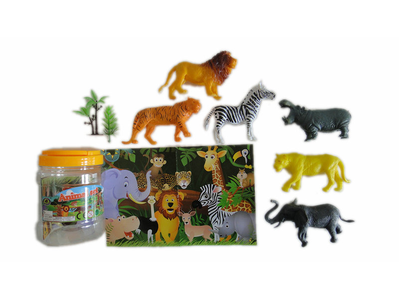 6pcs wild animal toy animal world animal figurines