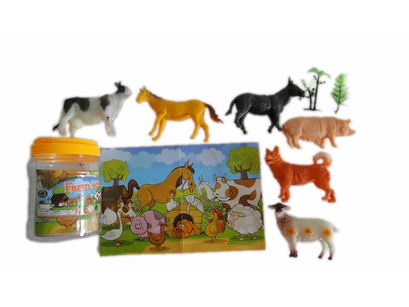 6pcs farm animal toy animal figurines toy animal world