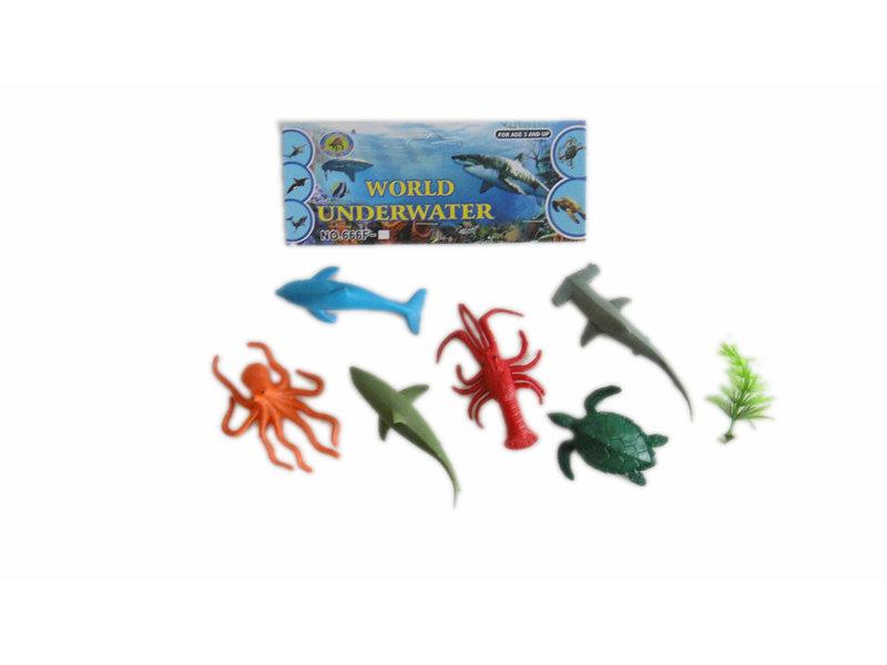 Marine animals toy animal set toy Ocean world