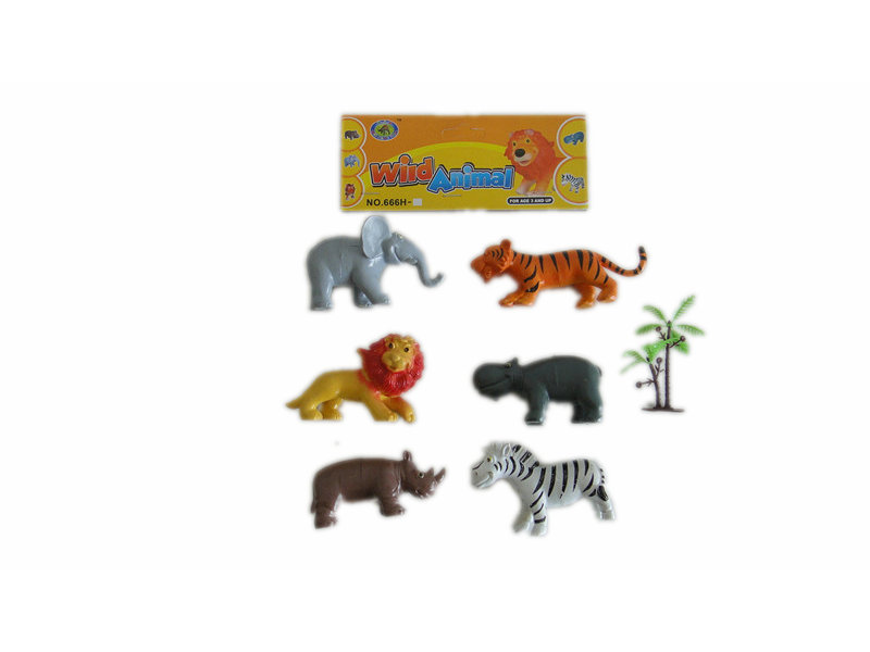 Animal toy with trees wild animals toy animal world
