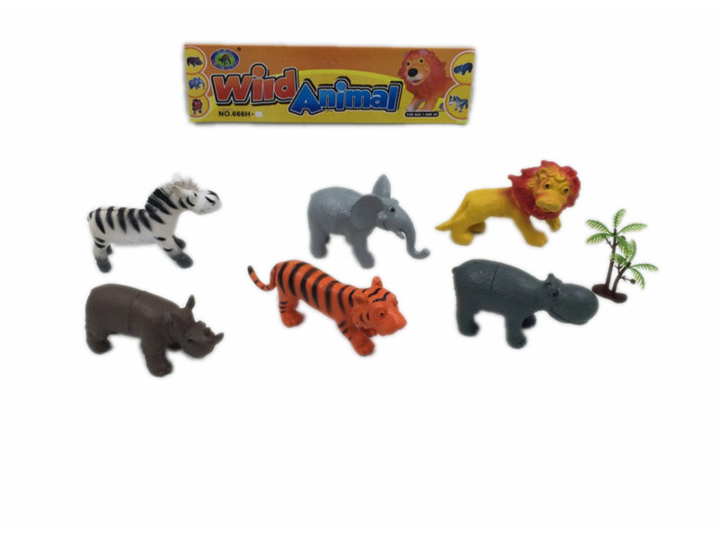 Animal toy with trees wild animals toy animal world