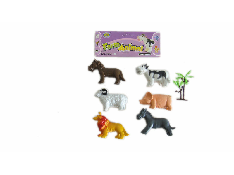Farm animal figurines toy animal toy with tree animal world