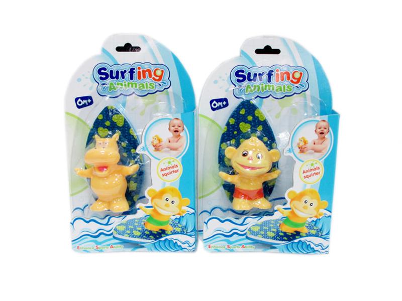 Bath toy surfing animal toy cartoon animal toy