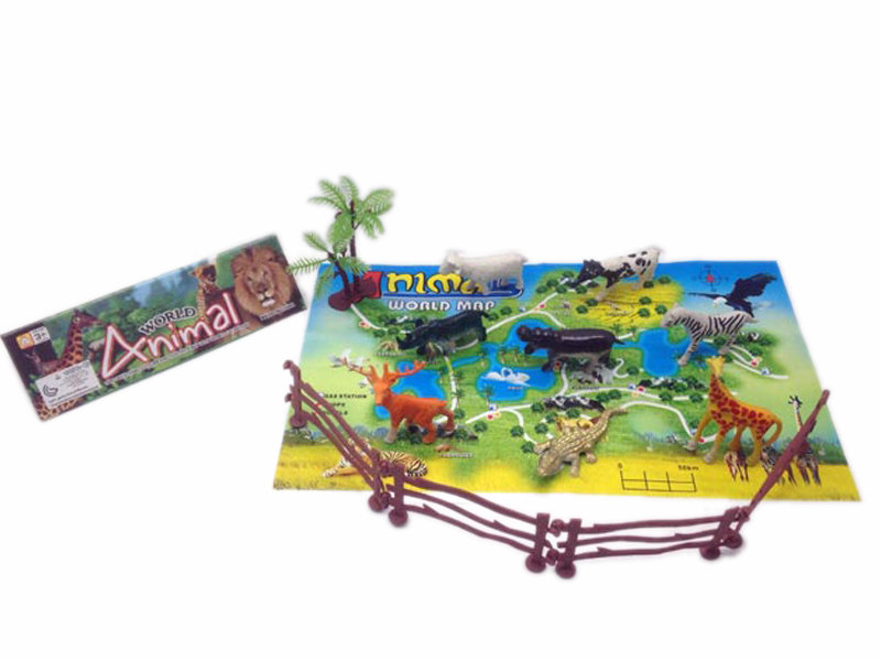 Animal map toy farm animal set animal theme toy