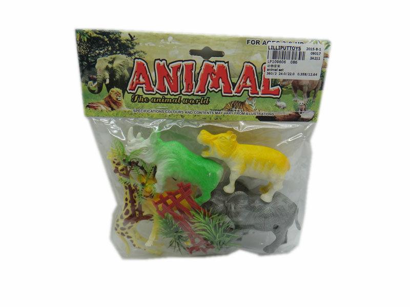 Animal set animal kingdom toy cartoon toy