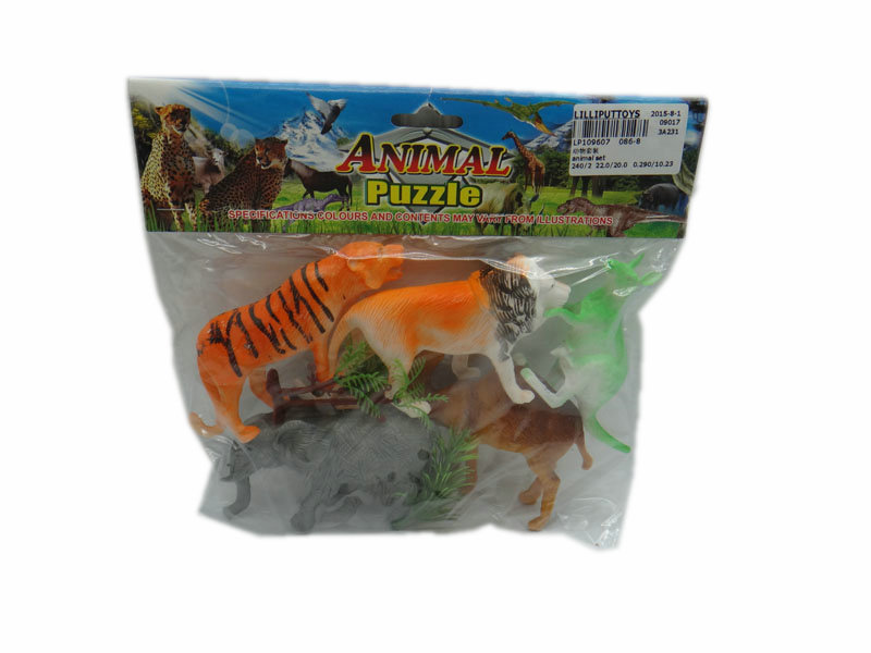 Animal set animal kingdom toy cartoon toy