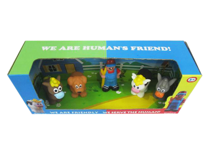 Vinyl animal toy cartoon farm animal funny toy