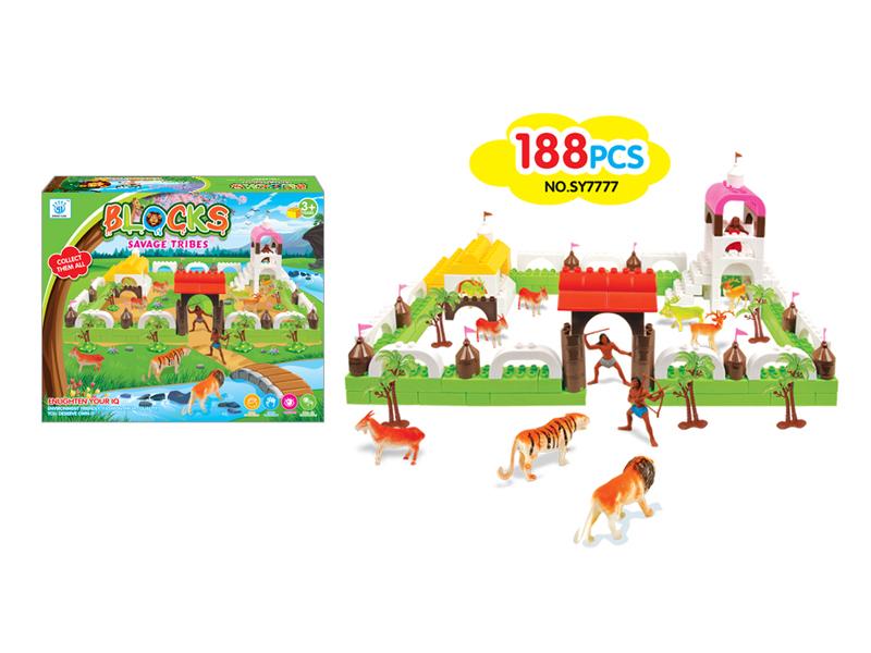 Animal theme block toy educational toy block toy