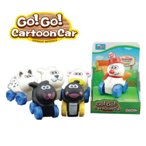 Vinyl animal car free wheel car cartoon animal toy