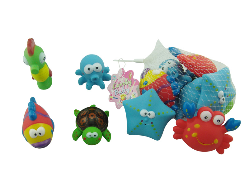 funny animal toy 6pcs vinyl animal cartoon toy