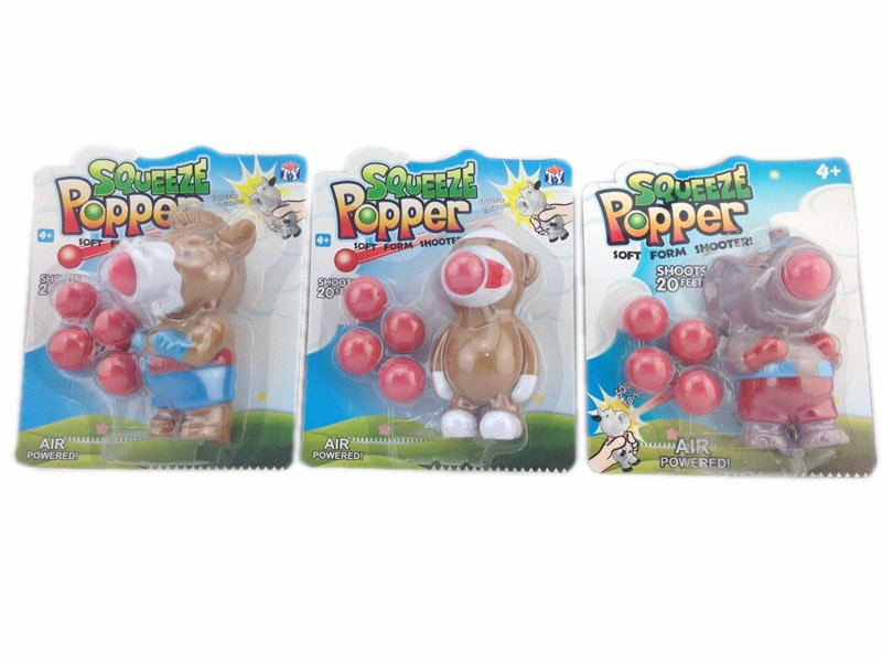 Squeeze popper toy vinyl anima toy cartoon toy